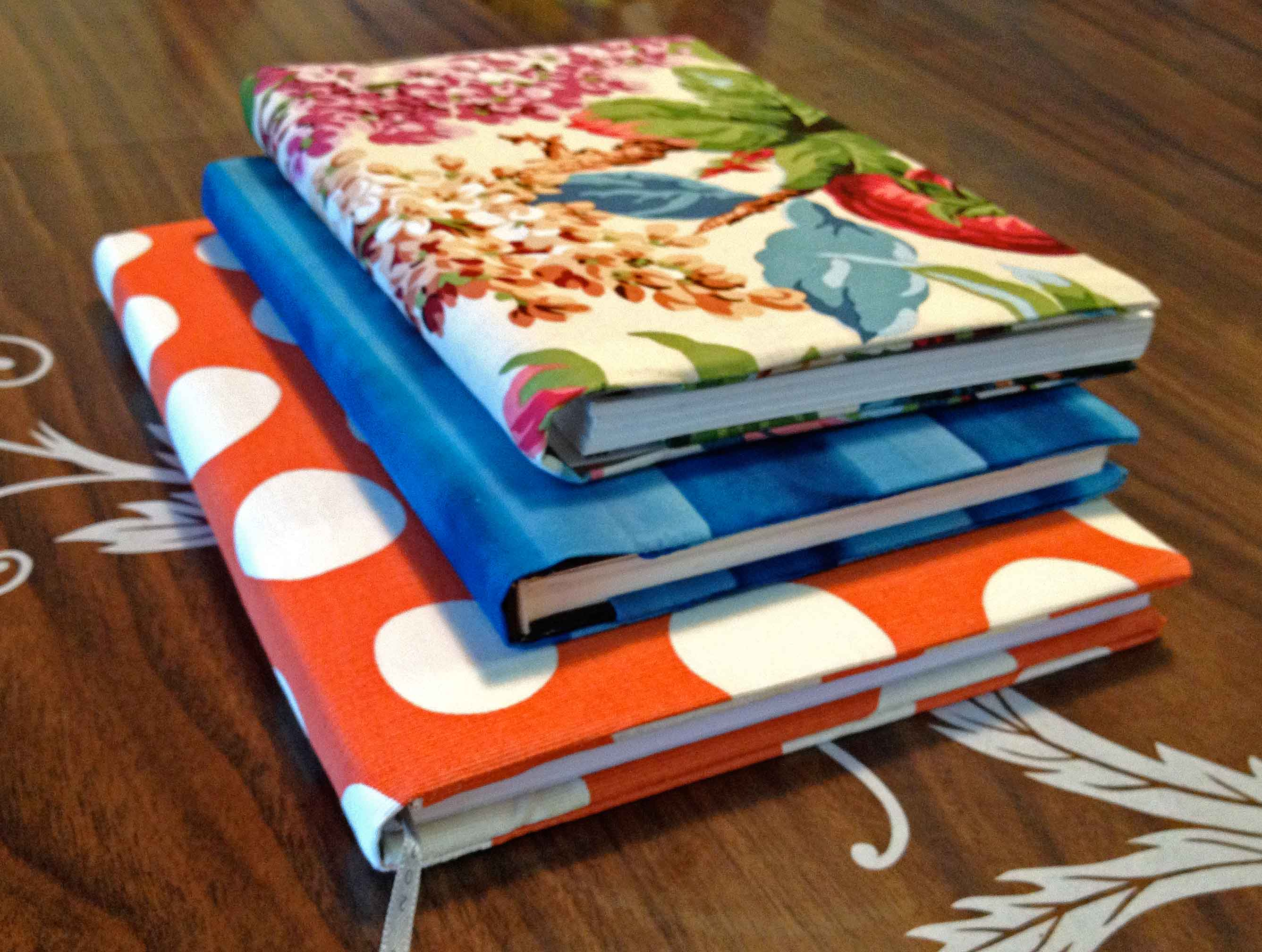 DIY Fabric Book Covers – Scissors & Spraypaint